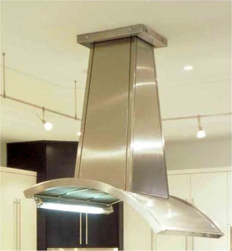 Modern exhaust hood closeup