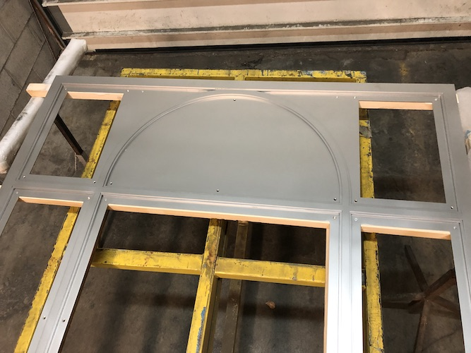 Sandblasted Window Frame