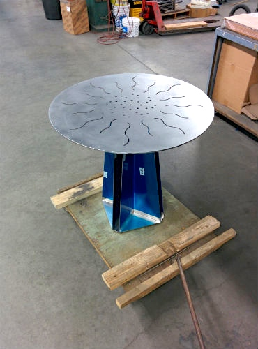 Stainless bistro table
