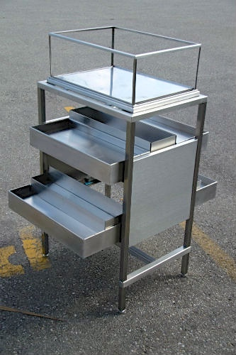 Stainless display unit